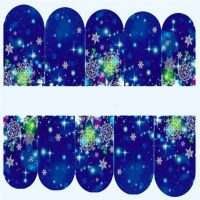 Christmas Snowflake Water Decal Design 210