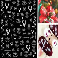 Christmas Stickers White Design 35