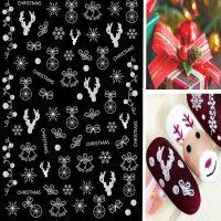 Christmas Stickers White Design 35