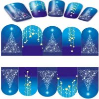Christmas Tree and Star Water Decal Design 214