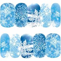Christmas Snowflake Water Decal Design 1187