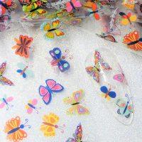 Butterfly Nail Transfer Foil Design 10