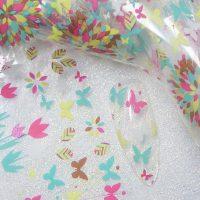 Butterfly Nail Transfer Foil Design 3