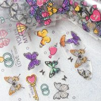 Butterfly Nail Transfer Foil Design 6