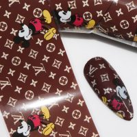 Designer Inspired Nail Art Foil Mickey Design 6