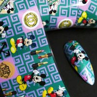Designer Inspired Nail Art Foil Mickey Design 9