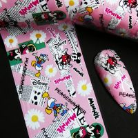 Designer Inspired Mickey Minnie and Donald Duck Nail Art Foil Design 3