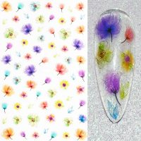 Flower Nail Stickers Design 022