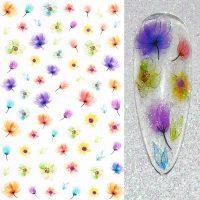 Flower Nail Stickers Design 022