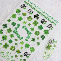 Four Leaf Clover St Patricks Day Stickers (1)