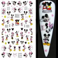 Disney Mickey Mouse and Minnie Mouse Nail Stickers Design 004
