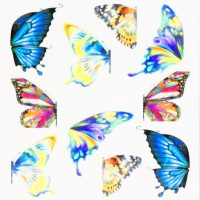 Butterfly Water Decal Design 1007