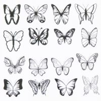 Butterfly Water Decal Design 1015