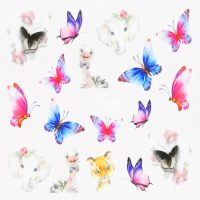 Butterfly Water Decal Design 987