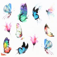 Butterfly Water Decal Design 995