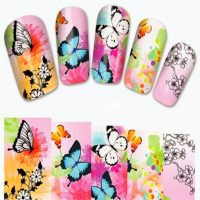 Butterfly Water Decal Wrap Design 1379