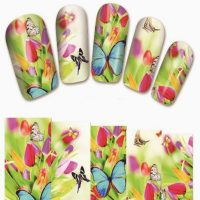 Butterfly Water Decal Wrap Design 1380