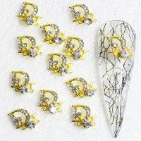 Designer Inspired Gold Crystal Alloy Design 15