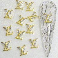 Designer Inspired Gold Crystal Alloy Design 18