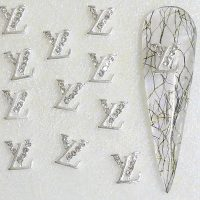 Designer Inspired Silver Crystal Alloy Design 20