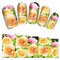 Flower Water Decal Design 1374