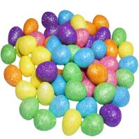 Mini Glitter Decorative Foam Easter Eggs