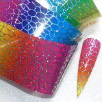 Spider Web Rainbow Transfer Foil