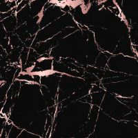 Black And Rose Gold marble mat