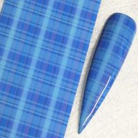 Blue Tartan Transfer Foil Design 1