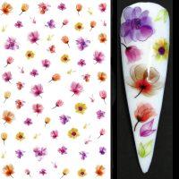Flower Nail Stickers Design 021