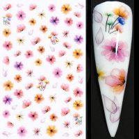 Flower Nail Stickers Design 024