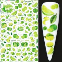 Fruit Lime Nail Stickers Design 409