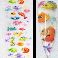 Sealife Ocean Fish Transfer Foil Design 1