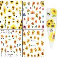 Sunflower water decals