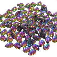 AB Chameleon Water Drop Smooth Rhinestone Crystals Colour 2