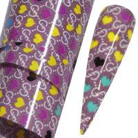 Designer Inspired Nail Art Transfer Foil Design 25