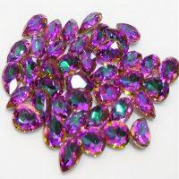 AB Pink Aqua Rhinestone Crystals