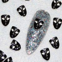 Black Alloy Mask x 1 Piece