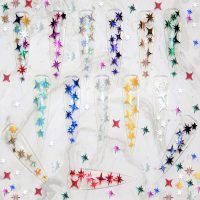 Stars Shape Vinyl Nail And Craft Stickers