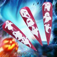 White Vinyl Ghost Halloween Stickers