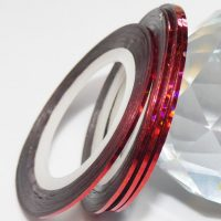 Red Holographic Striping Tape 1mm