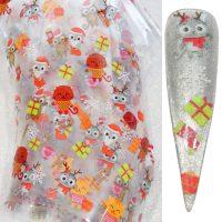 Christmas Nail Transfer Foil Design 19
