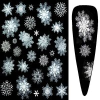 Frosted Snowflake 3D Nail Stickers Design 13