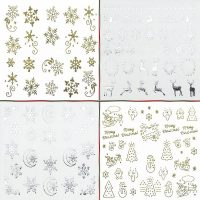 Gold And Silver Snowflake Water Decals