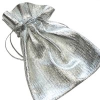 Silver Mini Gift Pouch Jewellery Bag